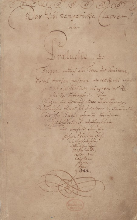 Bach: The well-tempered clavier title page