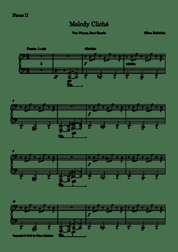 Melody Cliché - Piano II