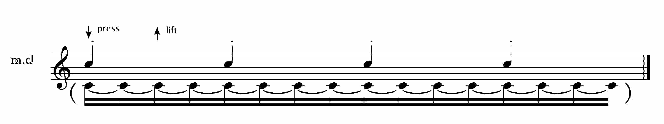 bach staccato