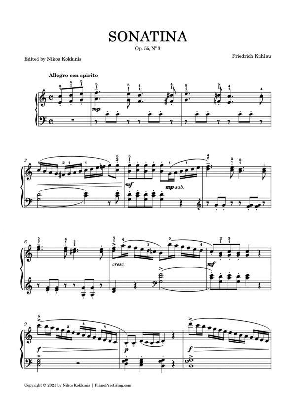 Sonatina Kuhlau No.3 Preview Image